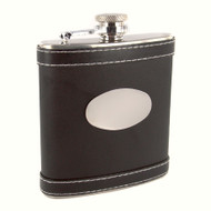 Leather Flask (Black or Brown)