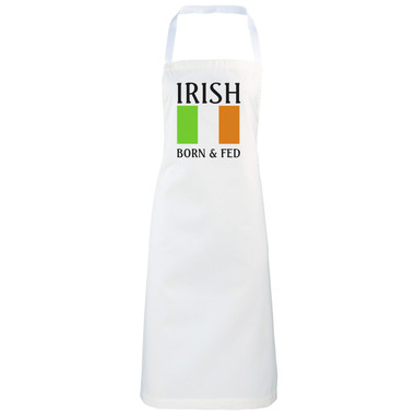 Irish Born and fed Novelty funny apron gift idea