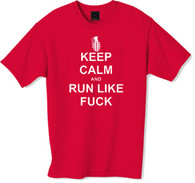 Keep calm and run tshirt