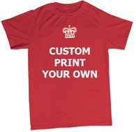 keep calm custom print t shirt