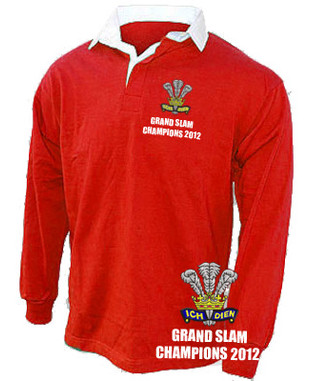 Wales Grand Slam Champions 2012 retro rugby shirt