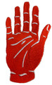 red hand of ulster embroidered close up