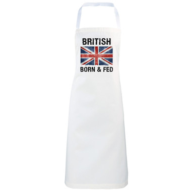 British Born and Fed Funny novelty apron gift idea
