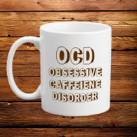 OCD Obsessive Caffeine Disorder Mug Coffee Addict Tea Addict Novelty Gift Idea Under 5