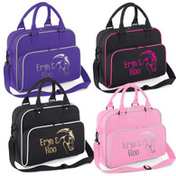 Girls Equestrian Horse Shoulder Tack Bag Free Personalised Printing Accessories