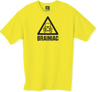 Brainiac t-shirt from the popular TV series.  This t-shirt is only available in yellow.