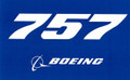 757 Blue Sticker