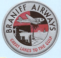 Braniff Airways Vintage Logo Sticker
