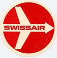 Swissair Vintage Logo Sticker