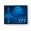 Boeing 777 Blue Pin