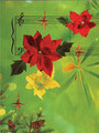Greeting Cards: Poinsettias with Staff (Pack of 12) [Alf:44-4441PK]