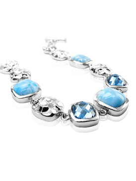 MarahLago Faceta Larimar Bracelet with Blue Topaz