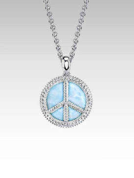 MarahLago Larimar Peace Sign - a Larimarket Exclusive
