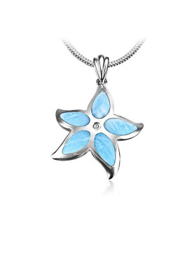 MarahLago Marine Life Collection Larimar Starfish Pendant/Necklace