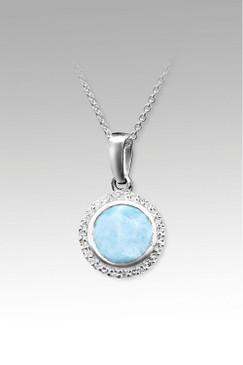 MarahLago Eva Collection Larimar Necklace with White Sapphire