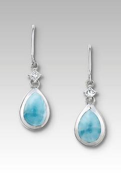 MarahLago Estrella Collection Larimar Earrings with White Sapphires