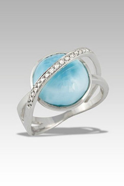 MarahLago Luminosa Collection Larimar Ring with Sapphire Accents