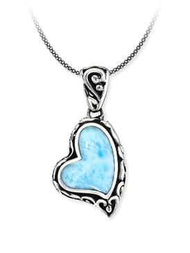 MarahLago Sirena Heart Larimar Necklace