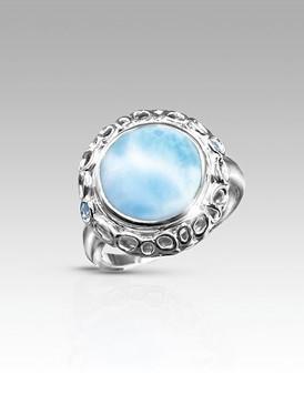 MarahLago Crescia Collection Larimar Ring