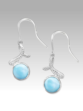 MarahLago Ellie Collection Larimar Earrings with White Sapphires