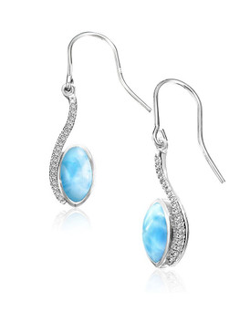 MarahLago Epiphany Larimar Earrings with White Sapphires
