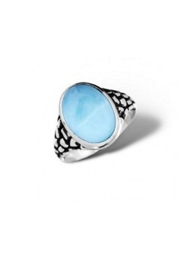 MarahLago Tortuga Collection Larimar Ring - North/South Setting