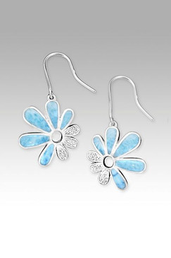 MarahLago Mayflower Collection Larimar Earrings with White Sapphire