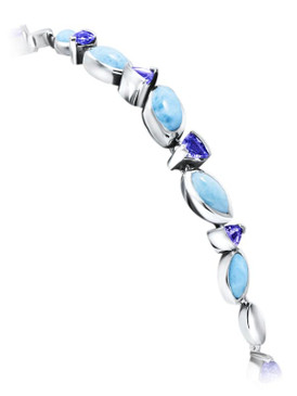MarahLago Paloma Collection Larimar Bracelet with Tanzanite