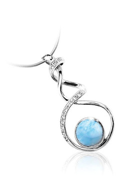 MarahLago Dante Collection PETITE Larimar Pendant/Necklace