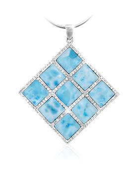 MarahLago Echo Collection 9-Stone Larimar Necklace