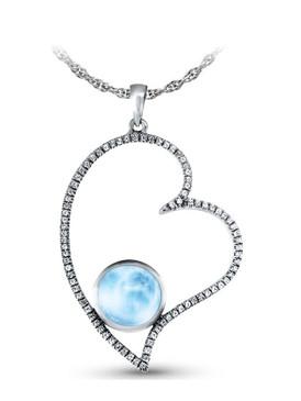 MarahLago Venus Heart Larimar Pendant / Necklace