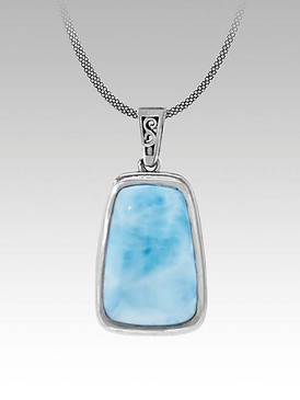 MarahLago Hanna Collection Petite Larimar Necklace