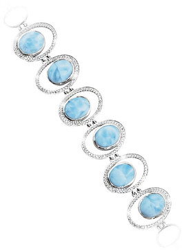 MarahLago Osaka Collection Larimar Bracelet with White Sapphire