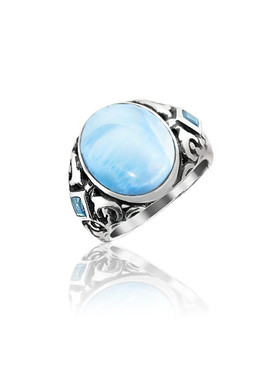 MarahLago Messina Collection Larimar Ring - Redesigned