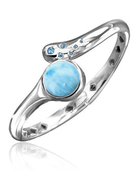 MarahLago Lumen Collection Larimar Bracelet with Blue Spinel