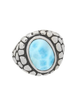 MarahLago Tortuga Collection Larimar Ring - North/South Setting - Large