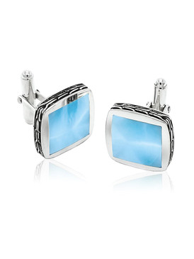 MarahLago Titan Men's Larimar Cuff Links