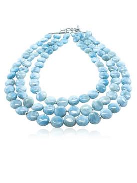 MarahLago Seafoam Collection Larimar Necklace
