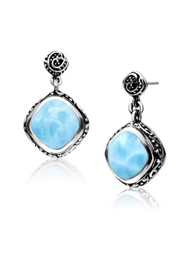 MarahLago Woodland Collection Larimar Earrings - New Design  - with post