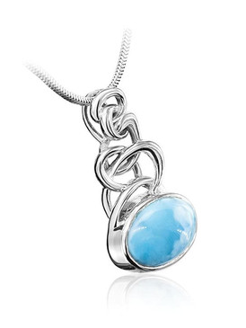 MarahLago Zuma Collection Larimar Necklace