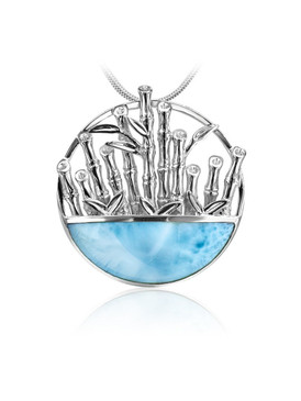 MarahLago Wild Life Collection Bamboo Larimar Pendant/Necklace