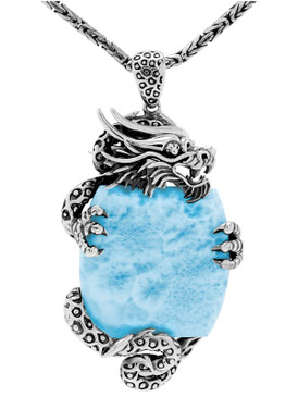 MarahLago Dragon Collection Larimar Necklace