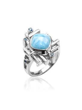 MarahLago Pixel Collection Larimar Ring