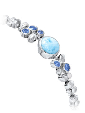MarahLago Victoria Collection Larimar Bracelet with Blue Spinel