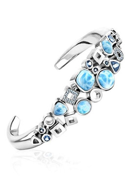 MarahLago Alexandria Collection Larimar Cuff Bracelet