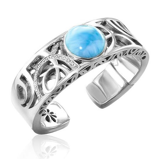 MarahLago Zara Larimar Bangle Cuff Bracelet