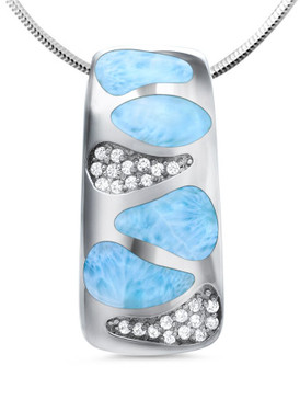 MarahLago Surf Collection Pendant or Necklace with White Topaz - New 2017 Design