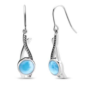 MarahLago Indigo Collection Larimar Earrings