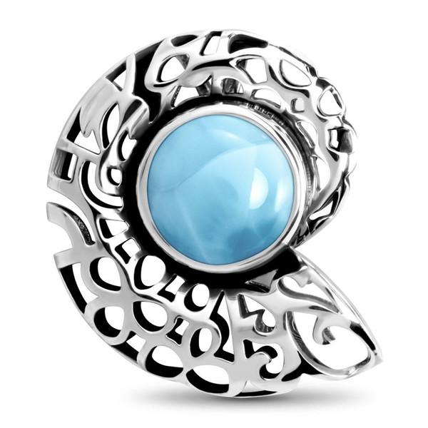 MarahLago SeaLife Collection Larimar Shell Pendant/Necklace