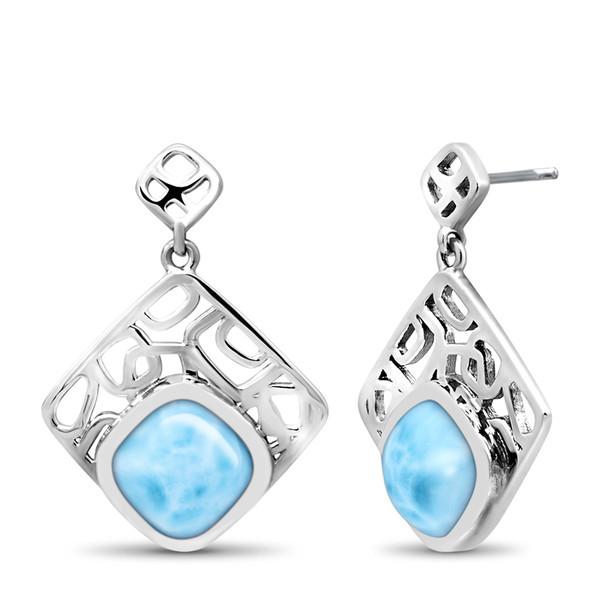 MarahLago Zara Collection Square Larimar Earring